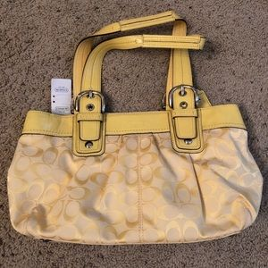 Yellow coach bag NEW